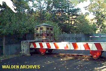 In The Valley Below The Guard Tower Was The Actual Border Crossing. The  East German Side Of The Crossing Featured This Iron I Beam Vehicle  Obstacle, ...